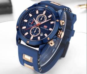 ab77a2706e MINIFOCUS メンズ 腕時計 クロノグラフ クォーツ スポーツ ミリタリー カジュアル 海外ブランド 箱付 ブルー