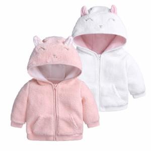 ad39791fc3376 コート ベビー服 新生児 赤ちゃん ジャケット 子供服 フリース 防寒 保温 アウターウエア 女の子 男の子 フード付き