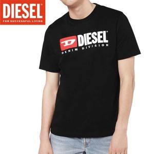 送料無料!!【45】DIESEL ディーゼル 『T-JUST-DIVISION』ブラック ロゴ クルーネック 半袖 Tシャツ [00SH0I 0CATJ]