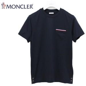 送料無料!!117 MONCLER モンクレール 80075 00 8390Y トリコロール ポケット付き Tシャツ ネイビー