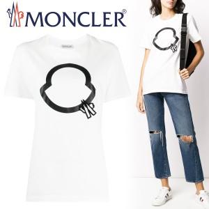 送料無料!!L6 MONCLER モンクレール 8C75610 V8094 ホワイト クルーネック 半袖 Tシャツ