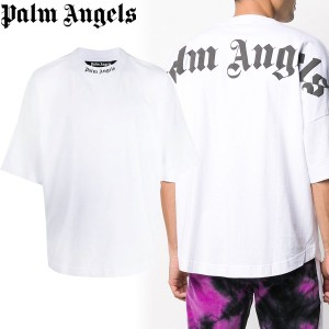 送料無料!!2 PALM ANGELS PMAA002R21JER001 オーバーサイズ バックロゴ ホワイト 半袖 Tシャツ