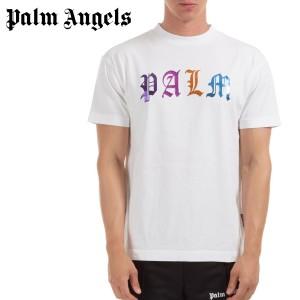 送料無料!!6 PALM ANGELS パーム エンジェルス PMAA001E20JER007 ロゴ ホワイト 半袖 Tシャツ