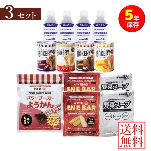 AST新・備 1st'非常食セット 3セット (送料無料) 備蓄用 保存食 非常食 水