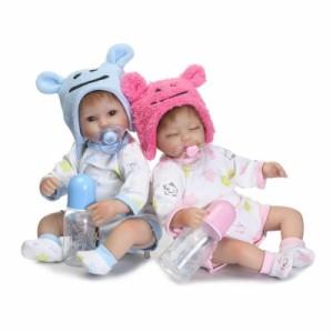 a3c14701d08b1 リボーンドール リアル赤ちゃん人形 ハンドメイド海外ドール 衣装とおしゃぶり・哺乳瓶付き クマ