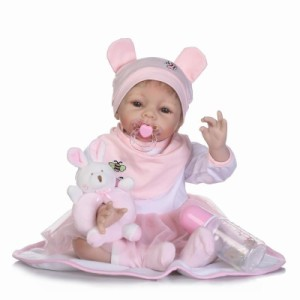 c062220c61b90 リボーンドール リアル赤ちゃん人形 かわいいベビー人形 ハンドメイド海外ドール 衣装と哺乳瓶・