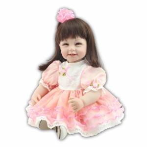 22インチ ロングヘア リボン お嬢様 お姫様 プリンセス 女の子/ リボーンドール 赤ちゃん人形 ベビードール トドラードール