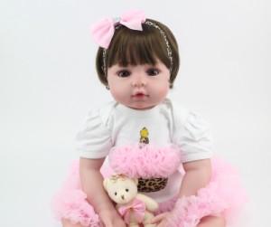 リボーンドール ショート髪 女の子 プリンセスドール トドラー人形 赤ちゃん人形 ベビー人形 ベビードール リアル 衣装付き 綿