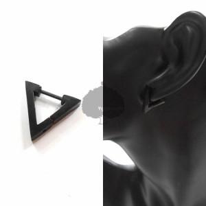 トライアングル 三角 ピアス 18G 黒 ブラック 韓流 BTS