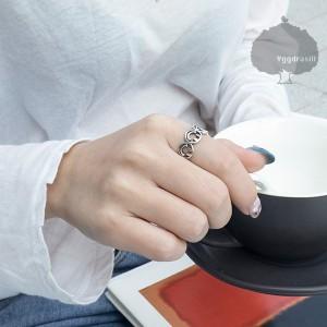 リング 指輪 ニコちゃん スマイリー シルバー フリーサイズ 韓流 SMILE