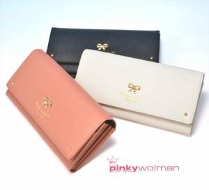 278cf50d2b4c ピンキーウォルマン pinkywolman ティファシリーズ 長財布 70303 全3色 (ホワイト・ピンク