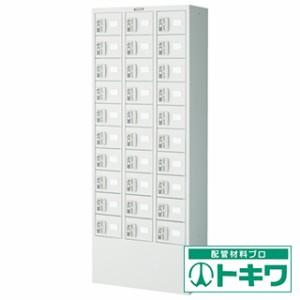 TRUSCO 預かりロッカー3列10段 コインリターン錠 KTL310-CR ( 4540751 )