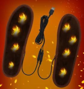 超暖 電熱インソール USB充電 電気ヒーターインソール パッド 防寒保温 冷え性解消 冬用足温器暖房 男女兼用23cm