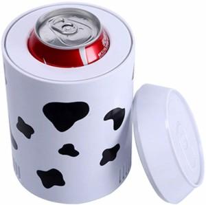0.5L冷蔵庫 カップ 乳牛紋 冷蔵庫 保冷庫 ミニ 小型 卓上 USB 缶ジュース用 ペットボトルドリンク用 家庭 車 オフィス 旅行 携帯用 便利