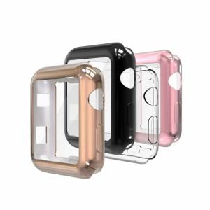 アップルウォッチ専用カバー Apple Watch Series SE/Series 6 / 5 / 4 / 3 / 2 / 1 対応 シリコン保護カバー 選べるカラー 38mm 40mm 4