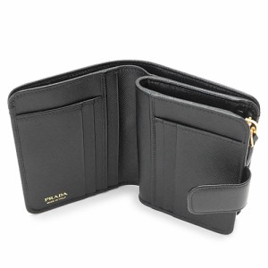 b92b5eaaa508 プラダ 折財布 レディース PRADA 1ML018 QWA SAFFIANO METAL 二つ折り 財布 レザー