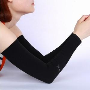 aquax 接触冷感 uv アームカバー レディース 指穴なし ブラック の通販