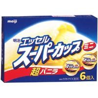 明治 エッセルミニ超バニラ 90ml×6個×8箱【アイス専用梱包】