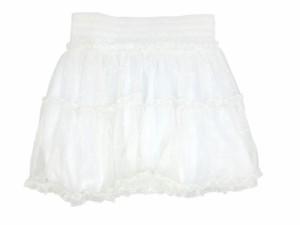 送料無料 1000円 全5サイズ 全5サイズ キッズ レース スカート ミニスカート 2段 フリル ウエストゴム ホワイト ふんわり 涼しい i3skirt