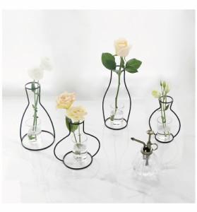 花瓶型 アイアンフレーム フラワーベース インテリア おしゃれ 雑貨 花瓶 アイアンフレーム オブジェ 花器 一輪挿し 置物 小物