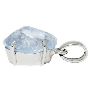 【送料無料】 ブルーカルサイト ライトパープリッシュブルーカラー シルバーペンダントトップ  天然石 パワーストーン カルサイト