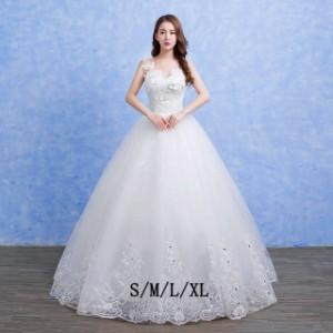22a2aa4e42457 ゲストドレス 無地 可愛い 着痩せ 花嫁ドレス ロングドレス ウエディングドレス 結婚式 ロングドレス 忘年会