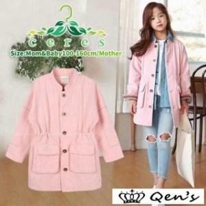 f90f6b2e56cad ジャケット キッズ 女の子 コート 韓国子供服 ピンク トップス 春 トレンチコート 子供服