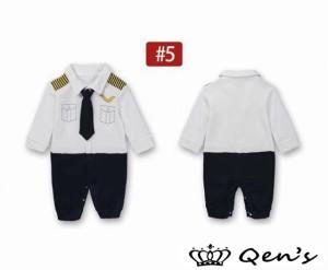 8cd9c16d5f2203 ベビー服 フォーマル ロンパース セーター 長袖 蝶ネクタイ 重ね着風 男の子 カバーオール パイロット