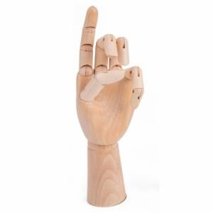 【送料無料!】木製 デッサンハンド ハンドトルソー 女性サイズ モデル 手 ポーズ 参考デッサンカット付き 人体 模型 素描 マネキン イン