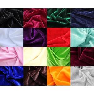 【送料無料!】カラー ベロア 生地 ポリエステル100% 1.5×2m 全16色 ベルベット ハンドメイド 手芸 裁縫 用 無地 布 布地 DIY 手作