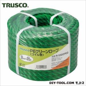 """""""トラスコ(TRUSCO) PEグリーンロープ3つ打線径12mmX長さ20m 180 x 181 x 134 mm R-1220PEG"""""""