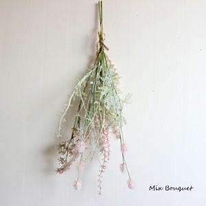 ミックスブーケ・ピンク  33590 造花 フェイクフラワー  ドライ風 スワッグ 花束