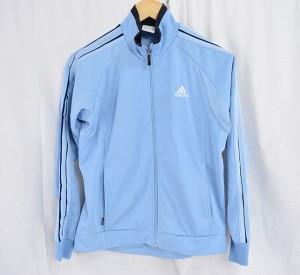a849d25a64a73  中古品 アディダス(adidas) ジップアップ ジャケット サイズ160 ブルー キッズジュニア