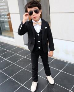 c74857aa2a778 4点セット 子供服 フォーマル 男の子 スーツ ベビー服 子供 男の子 フォーマル キッズスーツ 上下セット おしゃれ 七五三 結婚式 入学式
