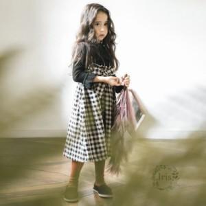 2d5603dae8d73 子供服 秋冬 キャミ ワンピース ノースリーブ 綿 蝶結び 女の子 子ども服 キッズ ジュニア服 女児 人気 可愛い 韓国風 チェック