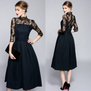 76069b49a8fd9 パーティドレス 結婚式 ドレス お呼ばれ ワンピース 20代 30代 40代 2018秋服
