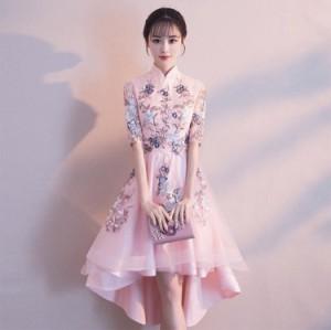 7442dba5c1f41 Pd463 20%OFF ドレス ミディ 五分袖 刺繍 ドレス ワンピース チュール きれい