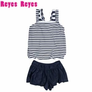 cc13f59caccaf8 水着 2点セット 子供 キッズ ジュニア 女の子 Reyes Reyes(レイズレイズ) タンキニ スカパン セパレ