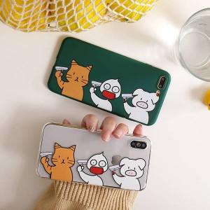 82f4080700 スマホケース 可愛い 動物 透明 シリコン お洒落 iPhoneXR iPhoneXS Maxケース iPhoneXS/X/7p/