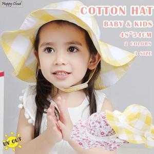 eed88fd560d02 帽子 洗えるコットンハット ベビー キッズ 48cm-54cm 綿100% ハット UVカット キャップ