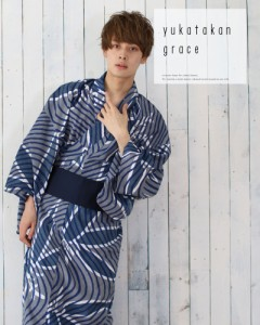 【送料無料】 浴衣 セット 男性浴衣 角帯 腰紐 下駄 セット レトロ 浴衣