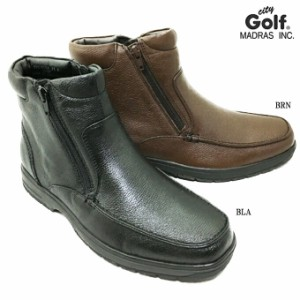 52fd14350a412 madras City Golf SPGF911A マドラス シティゴルフ メンズ ブーツ 靴 シューズ 天然皮革 本革 シボ