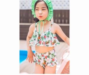 b4836760c50 送料無料 キッズ セパレート 子供水着 2点セット 子供 みずぎ 女の子 S M L XLサイズ 女の子 可愛い 上下セット