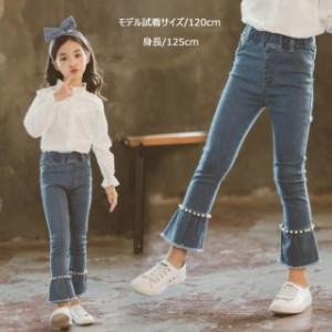 4bf8e7b48b3da 韓国子供服 女の子 デニムパンツ110 120 130 140 150