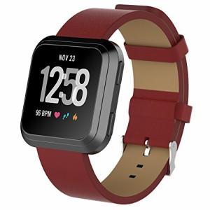03f934f4e809 XIHAMA for Fitbit Versa ストラップ バンド 純正革 交換ベルト リストバンド 柔らかい スマートウォッチ バンド