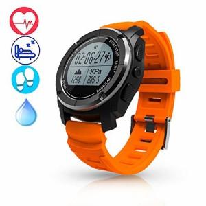 f4f69b687e LEPLE スマートウォッチ GPS 腕時計 スポーツウォッチ メンズ レディース 気圧計 高度計 温度計 活動量
