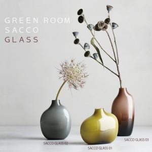 SACCO GLASS【花瓶 花器 フラワーベース ガラス シンプル 植物 花 キントー KINTO】