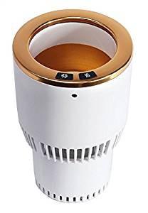 【送料無料・新品】ポータブル トラベラー カップホルダー 車用 ドリンクホルダー 保冷 保温 DC12V 小型 車載  車内 冷温庫 冷蔵庫 ドラ