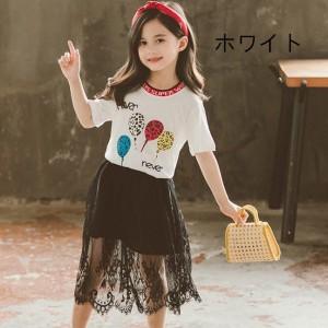 韓国 子供服 半袖 Tシャツ 女の子 人気 夏 洋服 こども キッズ用 お洒落 個性 トップス 可愛い 純綿 子ども服 七五三 普段着 ファッショ