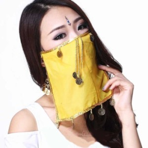 フェイスベール ベリーダンス衣装 アクセサリー オリエンタルダンス アラビアン ミカドレス
